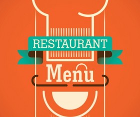Vintage restaurant menu template vector 01