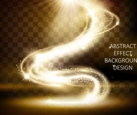 Wavy light illustration design vector