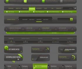 Website navigation menu design vector set 02