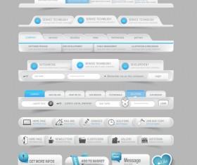 Website navigation menu design vector set 03