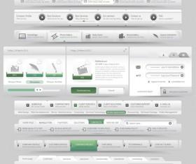 Website navigation menu design vector set 05