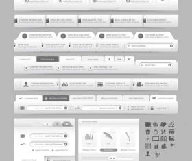 Website navigation menu design vector set 08