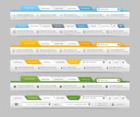 Website navigation menu design vector set 09