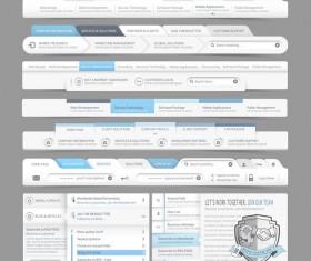 Website navigation menu design vector set 10