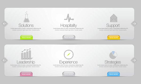 Website option banner template vector