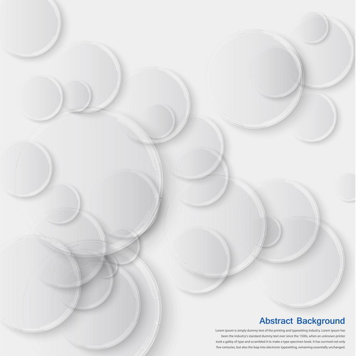White circles with abstract background vector
