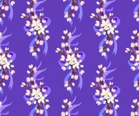 White flower seamless pattern vectors