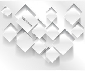 White square 3D background vector