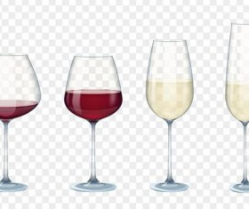 Wine cup illustration vector material 01