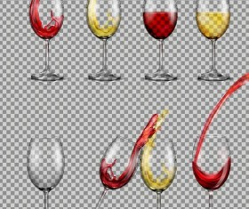 Wine cup illustration vector material 03