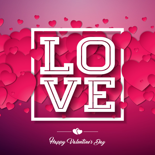 Wine Red Valentine Card Template Vector Free Download