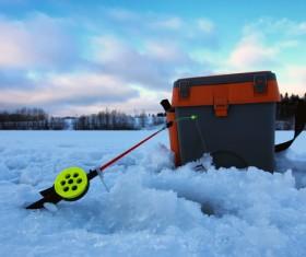 Winter fishing Stock Photo 01