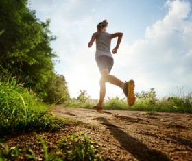Woman running exercise Stock Photo 01