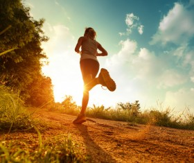 Woman running exercise Stock Photo 03