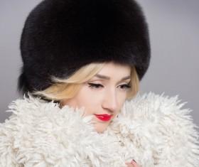 Woman wearing cotton cap Stock Photo 03