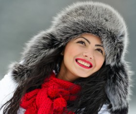 Woman wearing cotton cap Stock Photo 04