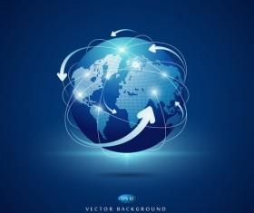 World network business background vector