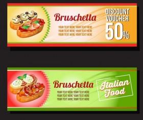 bruschetta voucher discount vector