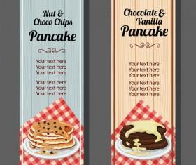 chocolate pancake vertical banner vector