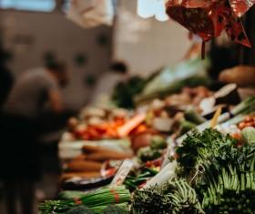 fresh vegetables in asian market Stock Photo