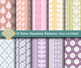 light colored retro seamless pattern vector 03