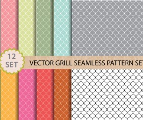 light colored retro seamless pattern vector 04