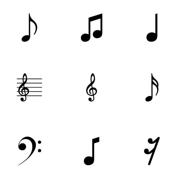 musical symbols vector icons