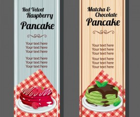 pancake vertical banner vector 01