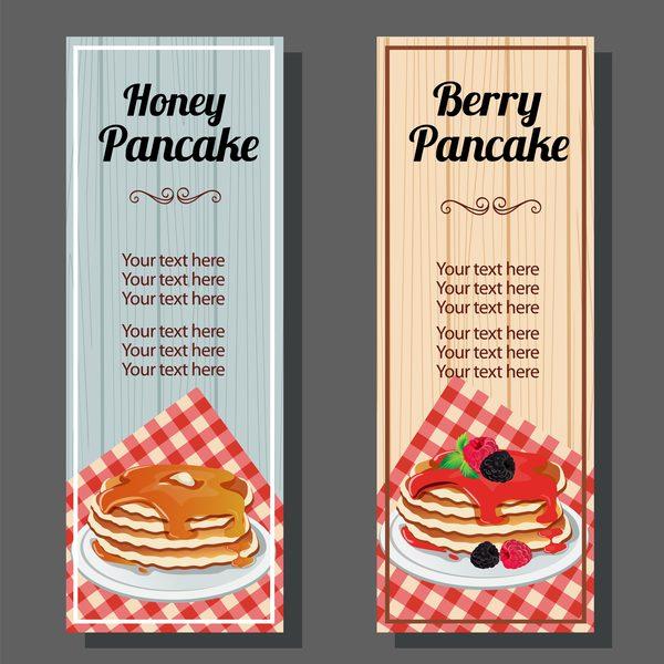 pancake vertical banner vector 02