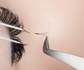 paste false eyelashes Stock Photo 01