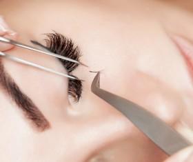 paste false eyelashes Stock Photo 03