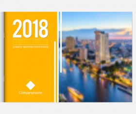 2018 business brochure cover template vectors 04