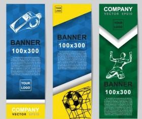 3 Kind Vertical football banner vector