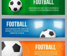 3 Kind football banner template vector