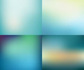 4 Kind blue blurs background vector