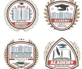 4 Kind vintage school labels vector