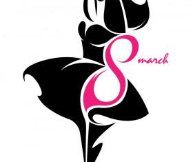 8 march womans day logos design vector 04