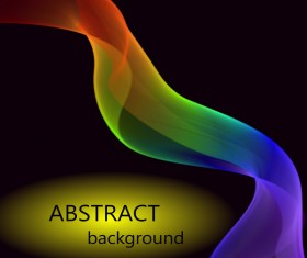 Abstract light wave effect vector background 02