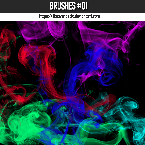 Abstract smokes design Photoshop Brushes