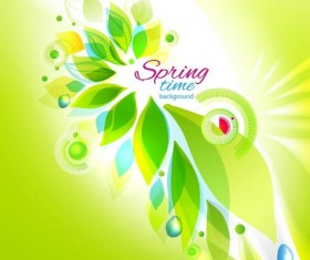 Abstract spring background vector material