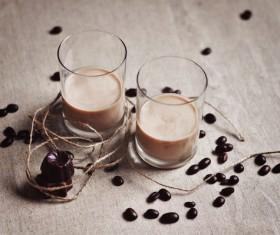 Add ice Irish cream liqueur Stock Photo 01