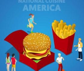 America cuisine vector design