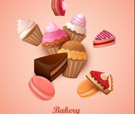 Bakery cake vector background