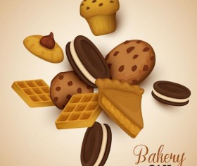 Bakery cookie vector background