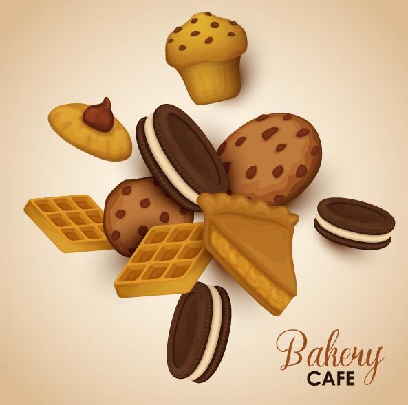 Bakery cookie vector background
