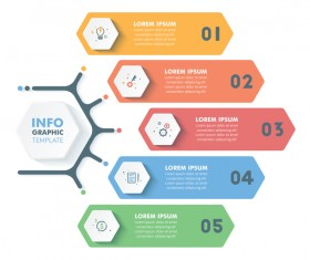 Banner option infographic template vectors 02