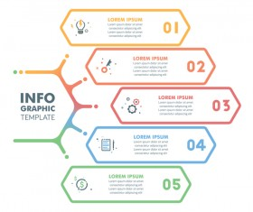 Banner option infographic template vectors 03