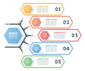 Banner option infographic template vectors 04