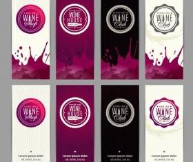 Banner wine design vectors set