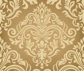Baroque ornament pattern seamless vector vintage design 02